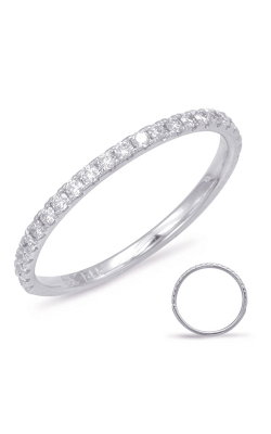S Kashi & Sons Prong Set Wedding Band EN7785-BWG product image