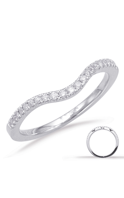 S Kashi & Sons Curved Wedding Band EN7670-B10WG product image