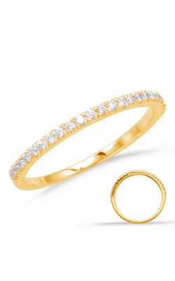 Deutsch & Deutsch Bridal Prong Set Wedding Band EN1705-BYG product image