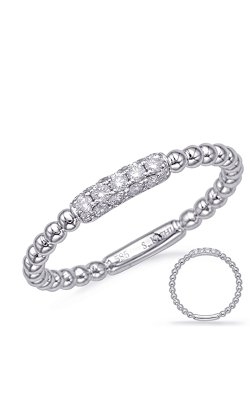 Deutsch & Deutsch Bridal Stackables Wedding Band D4721WG product image
