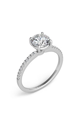 S Kashi & Sons Side Stone Engagement Ring EN7470-1WG product image