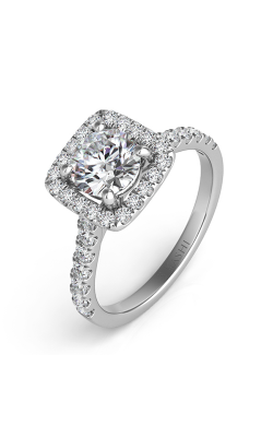 S Kashi & Sons Halo Engagement Ring EN7486-1WG product image