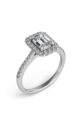Deutsch & Deutsch Bridal Halo Engagement Ring EN7597-6X4MWG product image