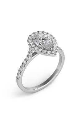 S Kashi & Sons Halo Engagement Ring EN7569-10X7MWG product image