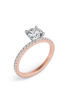 Deutsch & Deutsch Bridal Side Stone Engagement Ring EN7285RG product image