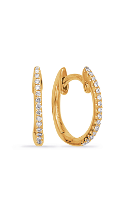 OPJ Signature Huggies Earrings E8003YG product image