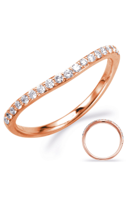 Deutsch & Deutsch Bridal Curved Wedding Band EN8003-B1RG product image