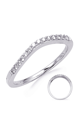 S Kashi & Sons Curved Wedding Band D3923-BWG product image