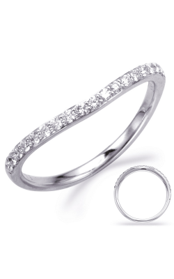 S Kashi & Sons Curved Wedding Band EN8003-B1WG product image