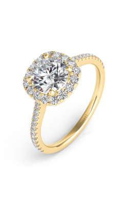 S Kashi & Sons Halo Engagement Ring EN7508-30YG product image