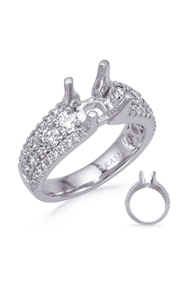 Deutsch & Deutsch Bridal Micro Pave Engagement Ring EN8317-1WG product image