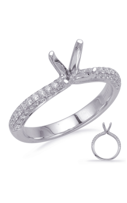 Deutsch & Deutsch Bridal Micro Pave Engagement Ring EN8206-15WG product image