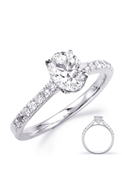 Deutsch & Deutsch Bridal Side Stone Engagement Ring EN8179-8X6MOVWG product image