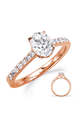 S Kashi & Sons Side Stone - Prong Set Engagement Ring EN8179-8X6MOVRG product image