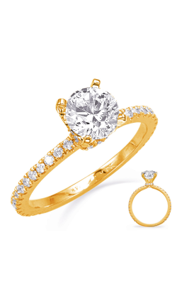 Deutsch & Deutsch Bridal Side Stone Engagement Ring EN8330YG product image