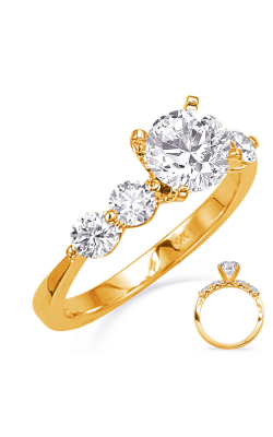 Deutsch & Deutsch Bridal Side Stone Engagement Ring EN8329YG product image
