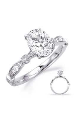 Deutsch & Deutsch Bridal Vintage Engagement Ring EN8152-8X6MOVWG product image