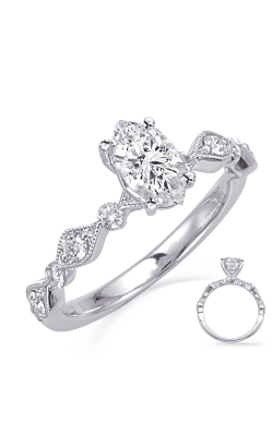 Deutsch & Deutsch Bridal Vintage Engagement Ring EN8148-9X7MWG product image
