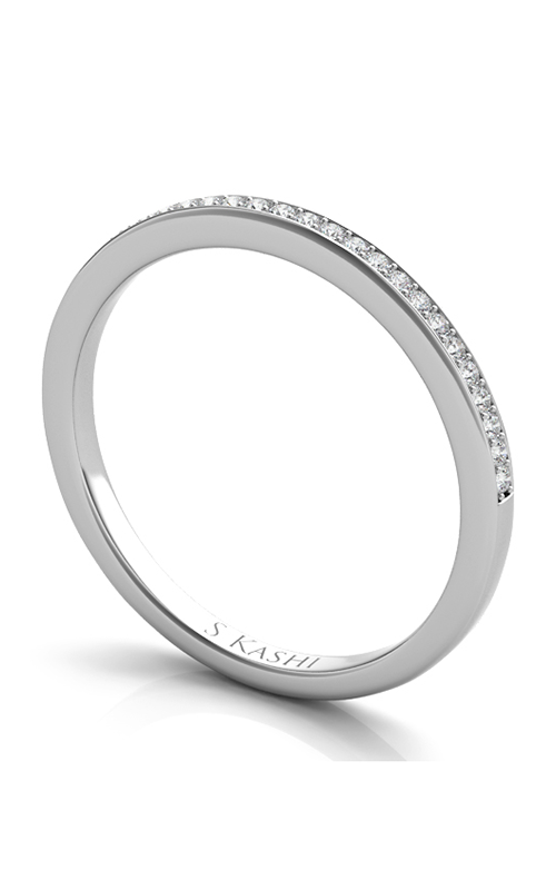 S Kashi & Sons Channel Wedding band EN7268-BWG product image