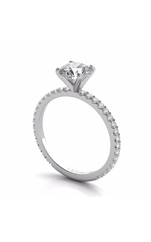 S Kashi & Sons Side Stone Engagement ring EN7285WG product image