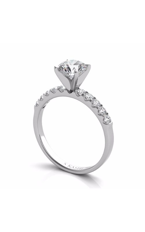Deutsch & Deutsch Bridal Side Stone Engagement ring EN6708WG product image