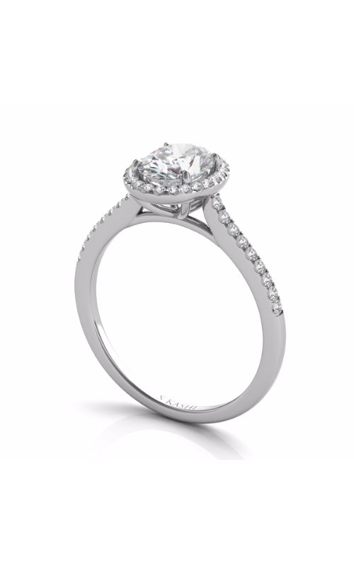 S Kashi & Sons Halo Engagement ring EN7512-7X5MWG product image