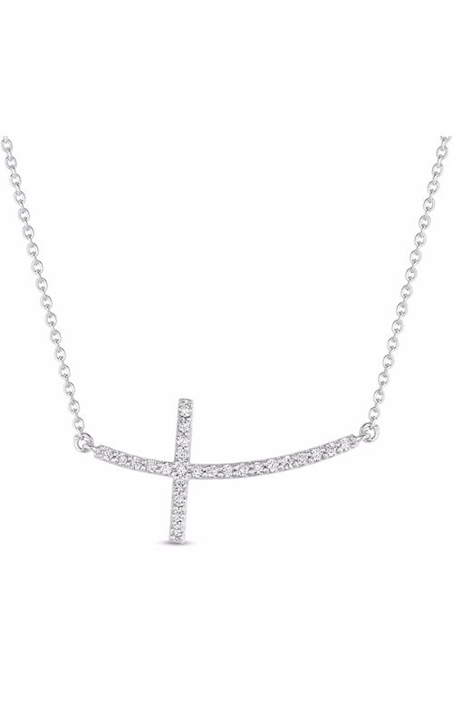 S Kashi & Sons Cross Necklace N1193WG product image