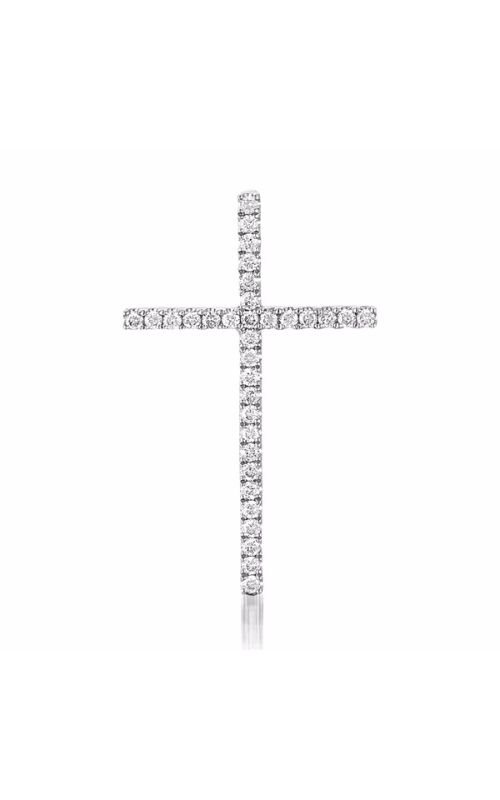S Kashi & Sons Cross Necklace P3144WG product image