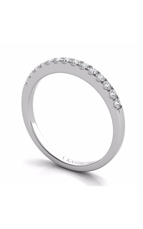 S Kashi & Sons Prong Set Wedding band EN7452-BWG product image