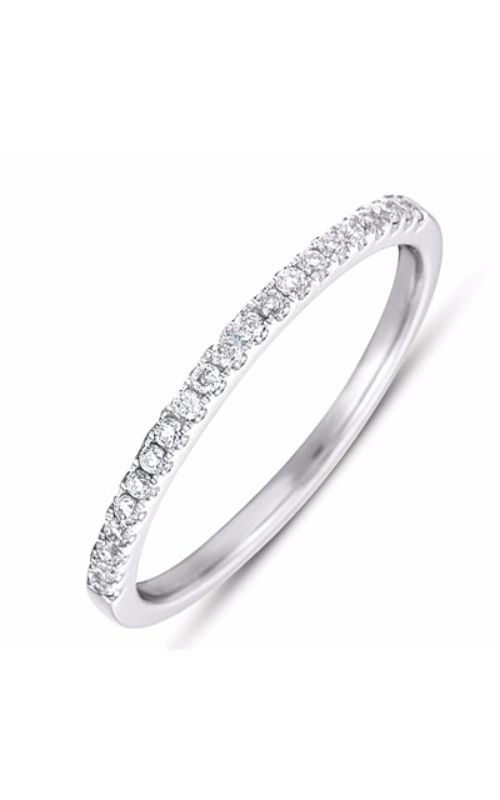 S Kashi & Sons Prong Set Wedding band EN7420-BWG product image