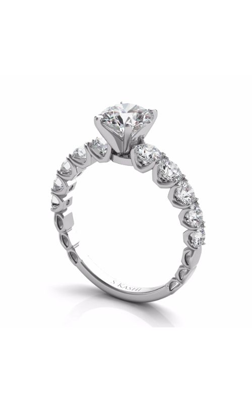 Deutsch & Deutsch Bridal Side Stone Engagement ring EN7583WG product image