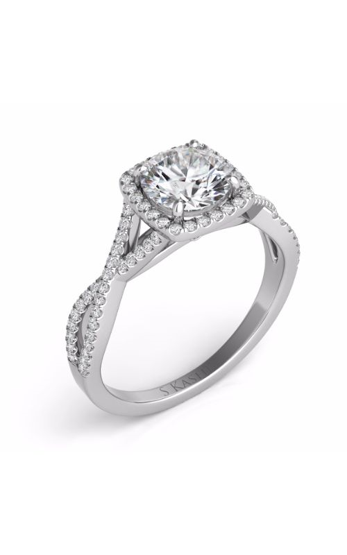 S Kashi & Sons Criss Cross Engagement ring EN7333-75WG product image