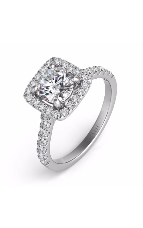 S Kashi & Sons Halo Engagement ring EN7486-75WG product image