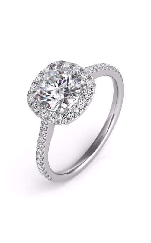 S Kashi & Sons Halo Engagement ring EN7508-75WG product image