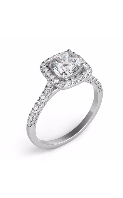 S Kashi & Sons Halo Engagement ring EN7593-5.5MWG product image