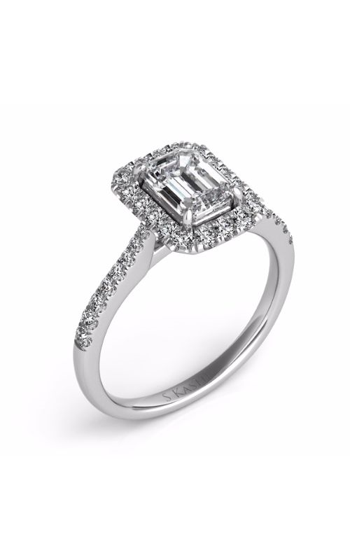 S Kashi & Sons Halo Engagement ring EN7597-8X6MWG product image