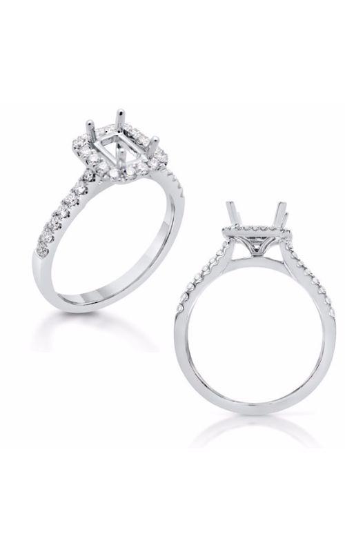 Deutsch & Deutsch Bridal Halo Engagement ring EN7598-6X4MWG product image