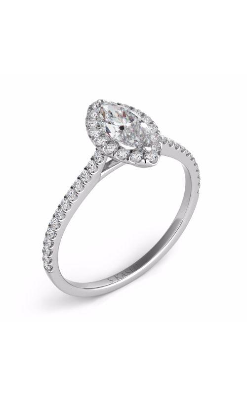 Deutsch & Deutsch Bridal Halo Engagement ring EN7599-9X4.5MWG product image