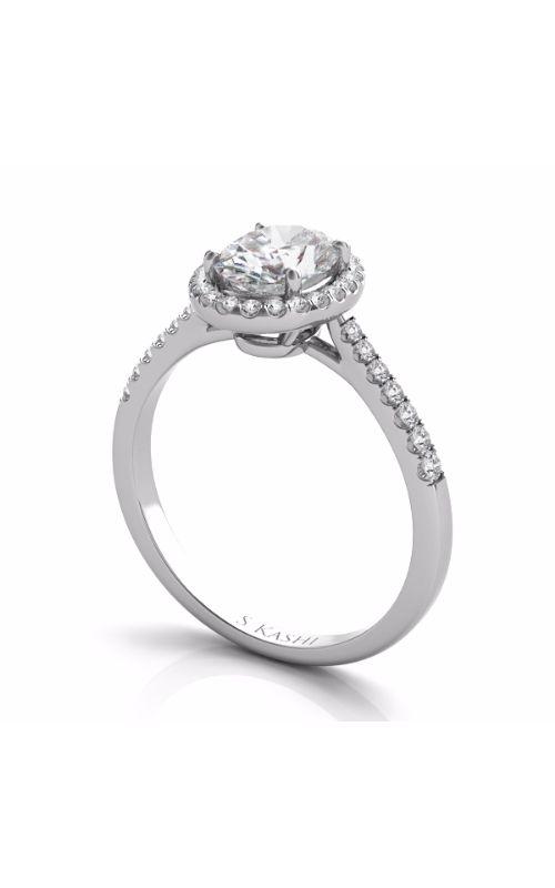 Deutsch & Deutsch Bridal Halo Engagement ring EN7543-7X5MWG product image