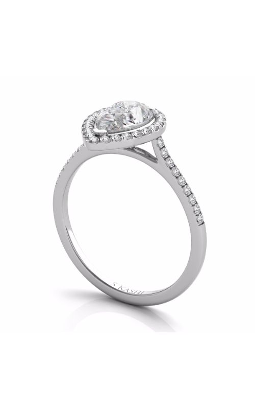 Deutsch & Deutsch Bridal Halo Engagement ring EN7519-7X5MWG product image