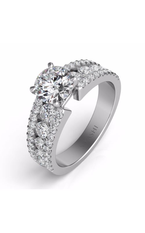 S Kashi & Sons Side Stone Engagement ring EN7008WG product image