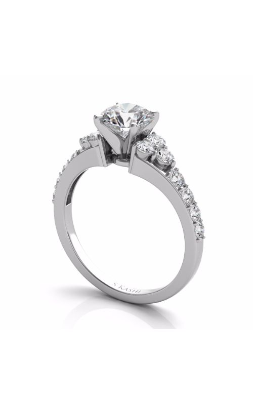S Kashi & Sons Side Stone Engagement ring EN7154WG product image