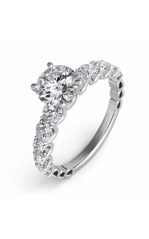 S Kashi & Sons Side Stone Engagement ring EN7463WG product image