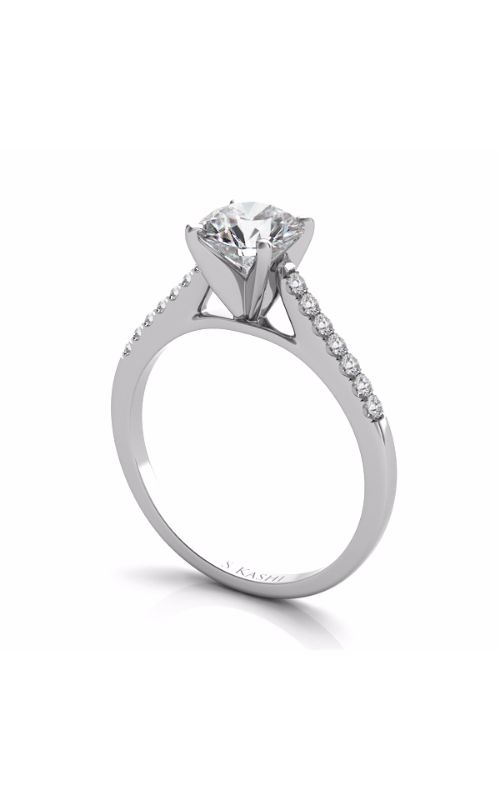 S Kashi & Sons Side Stone Engagement ring EN7488WG product image