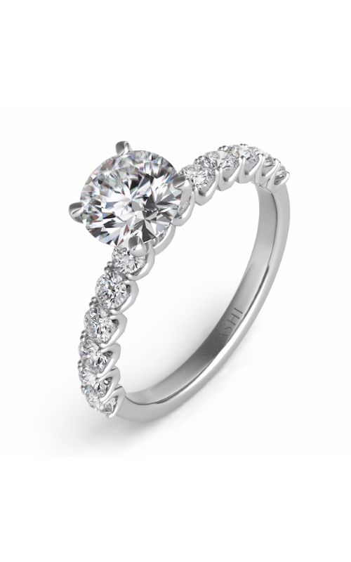 S Kashi & Sons Side Stone Engagement ring EN7637WG product image