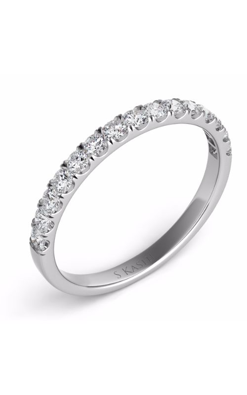 S Kashi & Sons Prong Set Wedding band EN7486-BWG product image