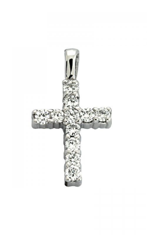 S Kashi & Sons Cross Necklace P2734WG product image