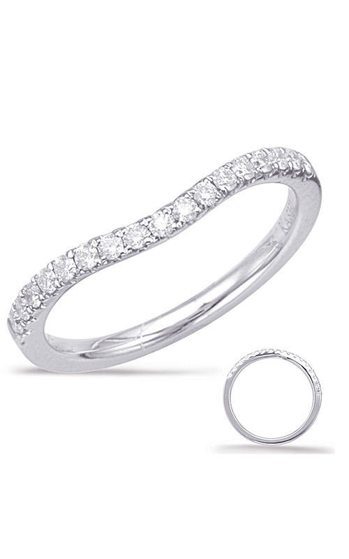 S Kashi & Sons Curved Wedding band EN7949-BWG product image