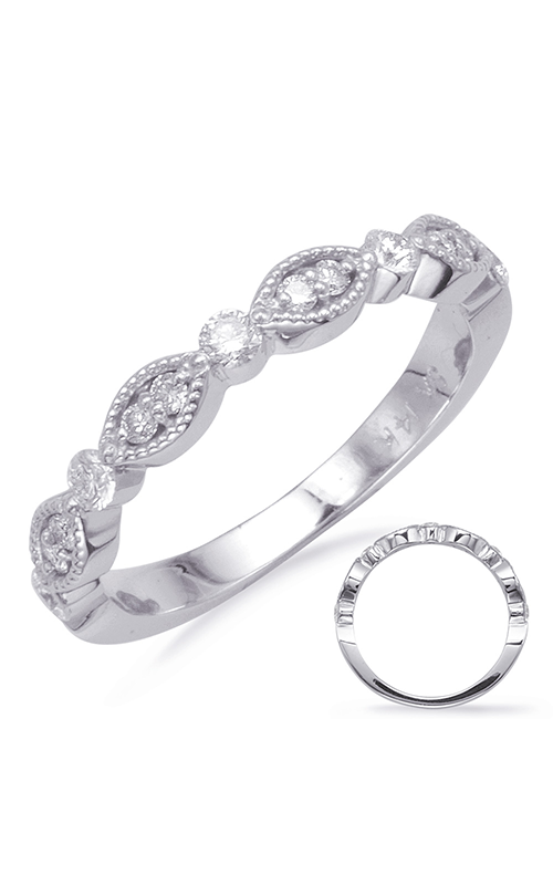 S Kashi & Sons Stackables Wedding band EN8088-BWG product image