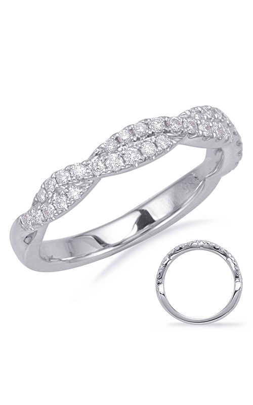Deutsch & Deutsch Bridal Criss Cross Wedding band EN8116-BWG product image